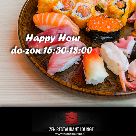 Happy Hour bij Zen Restaurant